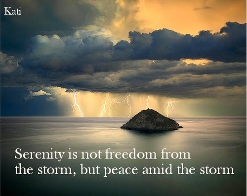 Peace in storm